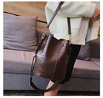 Модна жіноча сумка - Коричнева, фото 6