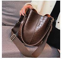 Модна жіноча сумка - Коричнева, фото 7