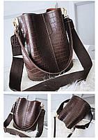 Модна жіноча сумка - Коричнева, фото 8