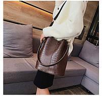Модна жіноча сумка - Коричнева, фото 9