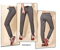 Спортивные брюки женские трикотажные. Графит, фото 1