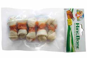 Кость жилистая узловая KingBone Chicken, с курицей, 6см, 10гр, 5 шт/уп (цена за упаков.)