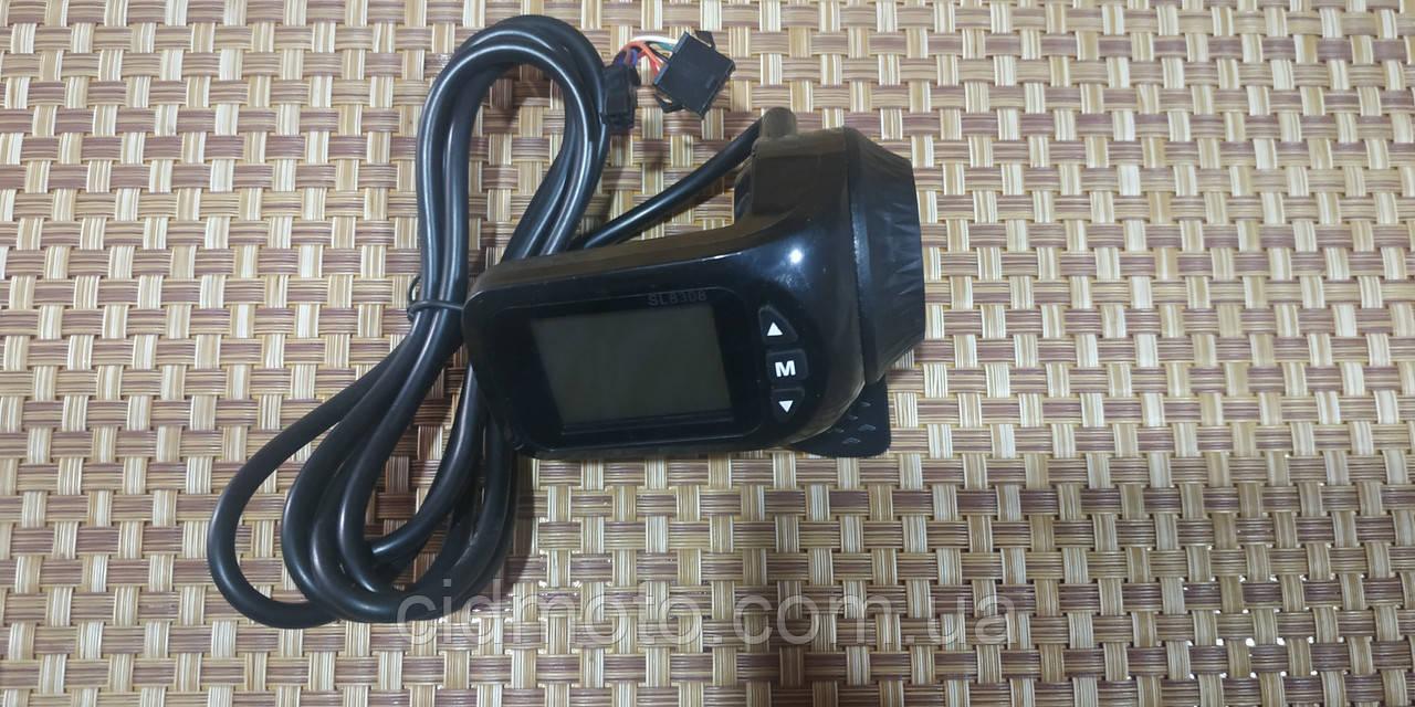 Ручка газа (курок) с компьютером для электро велосипедов 36-48 вольт