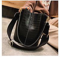 Модная женская сумка - Черная, фото 2