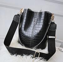 Модная женская сумка - Черная, фото 3