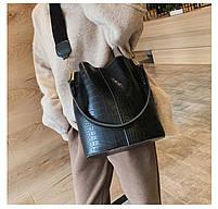 Модная женская сумка - Черная, фото 4