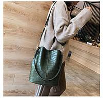 Модна жіноча сумка - Зелена, фото 2