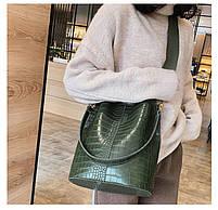 Модна жіноча сумка - Зелена, фото 3