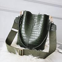 Модна жіноча сумка - Зелена, фото 5