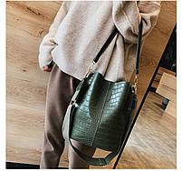 Модна жіноча сумка - Зелена, фото 4