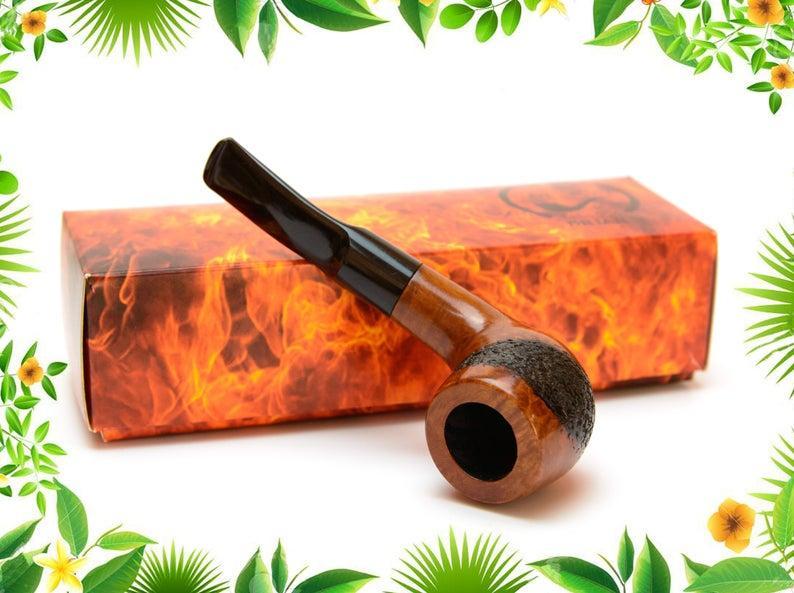 Трубка для курения Pot ручной работы из бриара под фильтр 9 мм