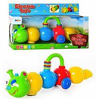 Музыкальная игрушка-каталка Веселая гусеница 6611
