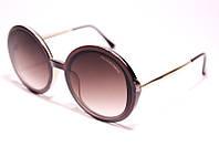 Женские солнцезащитные очки круглыеDolce & Gabbana 6444 C7 коричневые с градиентом