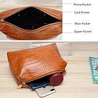 Модна жіноча сумка в сумці - прозора коричнева, фото 3