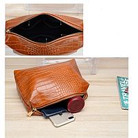 Модна жіноча сумка в сумці - прозора коричнева, фото 7