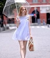 Модна жіноча сумка в сумці - прозора коричнева, фото 8
