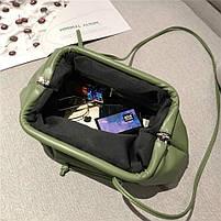 Модная женская сумка пельмень - Зеленая, фото 2