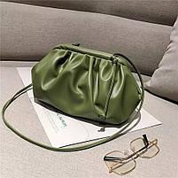 Модная женская сумка пельмень - Зеленая, фото 3