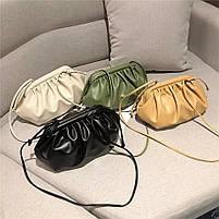 Модная женская сумка пельмень - Зеленая, фото 4