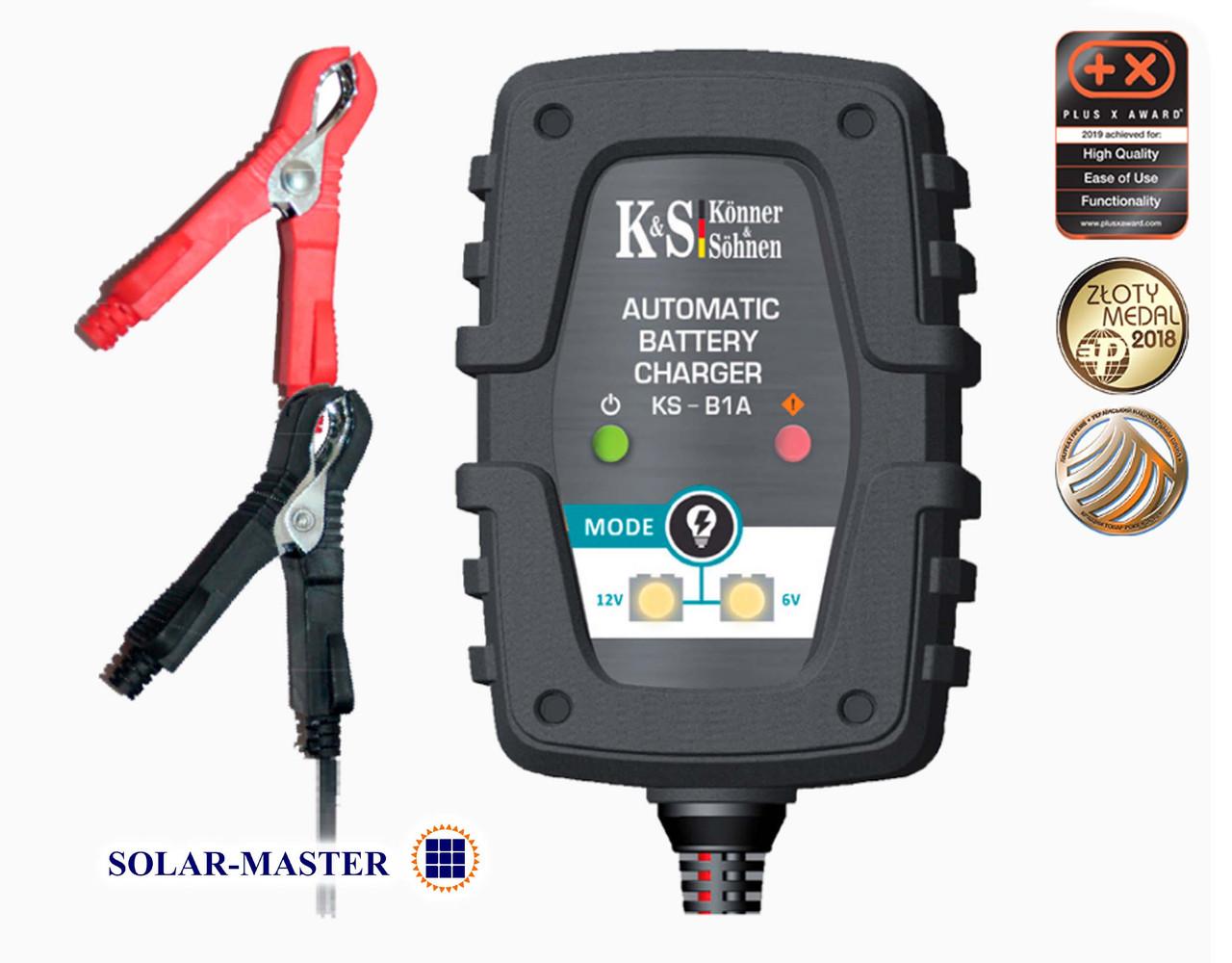 Зарядное устройство для 12В и 6В аккумуляторов до 32 Ач, 1 Ампер, Германия