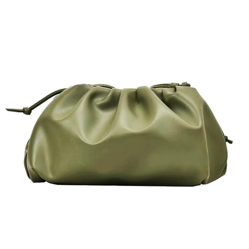 Модная женская сумка пельмень - Зеленая