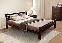Кровать двуспальная Ретро-2 массив сосна 160х200 см Орех тёмный