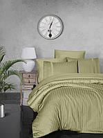 Комплект постельного белья Страйп Сатин евро  New Trend Z.Yesili