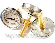 Термометр биметаллический аксиальный Watts F+R801 OR (T 100/75 SD D-100mm 0-120°C L-75mm)