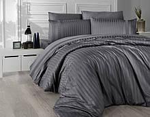 Комплект постельного белья Страйп Сатин евро  New Trend Fume