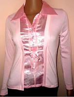 Блуза  с эффектом двойки