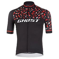 Джерси Ghost Factory Racing, Short, XL, черно-красно-белое