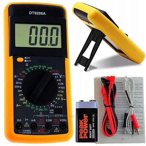 Мультиметр цифровой универсальный Digital DT9208A термопара