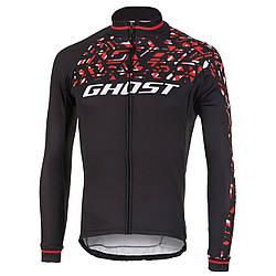 Джерси Ghost Factory Racing, Long, XL, черно-красно-белое