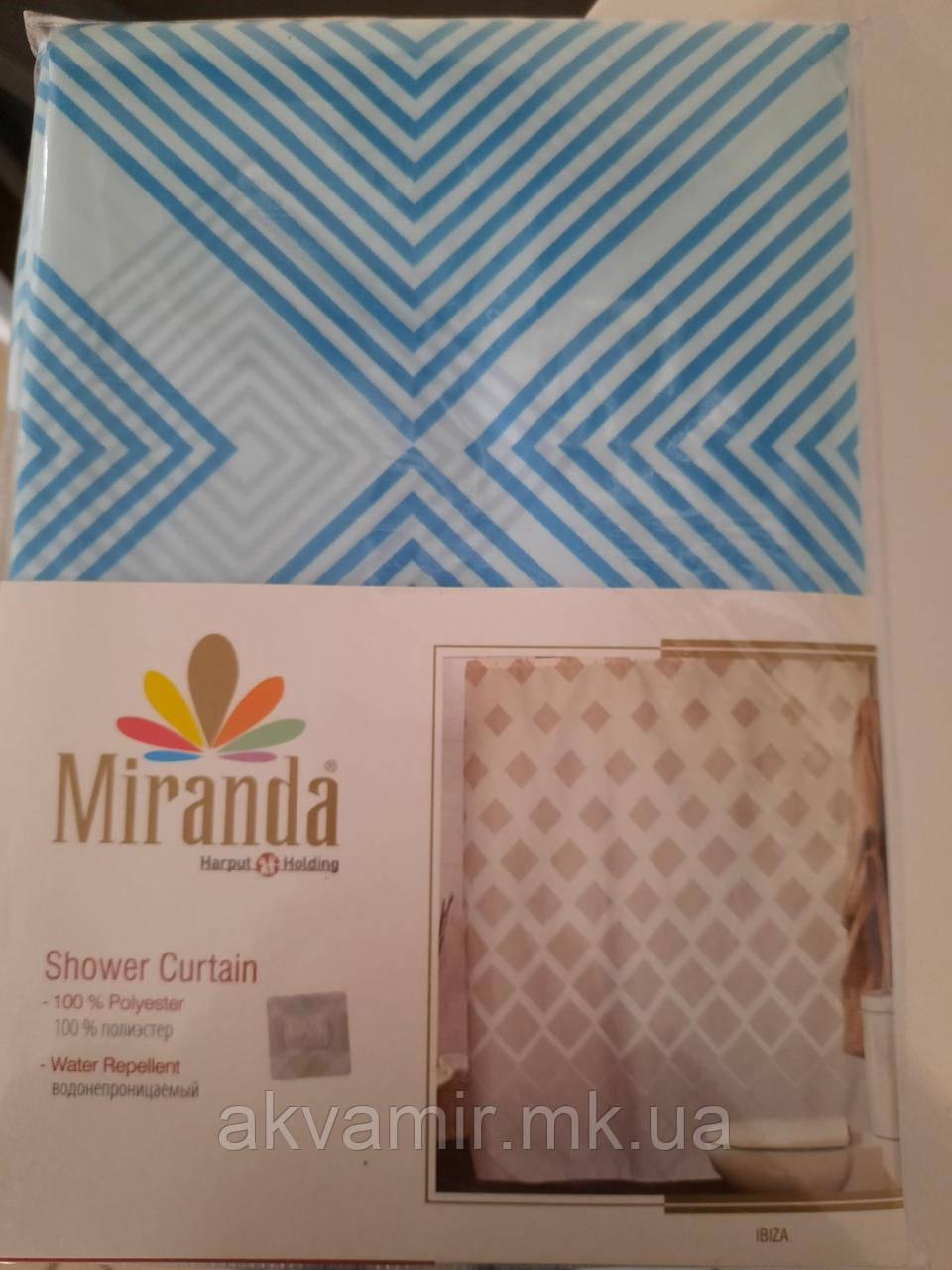 Штора для ванної Miranda Ibiza (Туреччина) 180х200 см блакитна