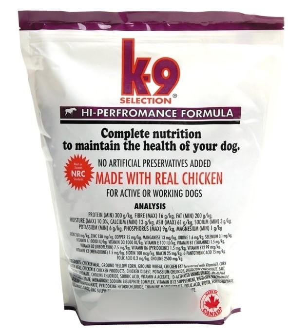 Корм для собак, усиленный с курицей K9 Selection Performance 5 КГ