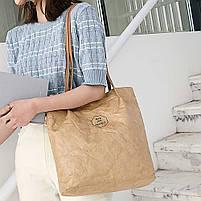 Эко сумка шоппер из бумаги, фото 4