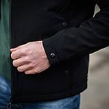 Чоловіча демісезонна куртка, чорного кольору, фото 4