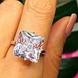 """Серебряное кольцо с огромным камнем """"Кристалл"""", фото 5"""