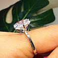 """Серебряное кольцо с огромным камнем """"Кристалл"""", фото 3"""