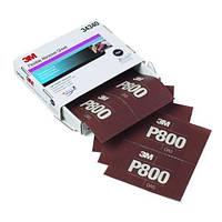 3М™34340 - Гибкий полировальный абразивный лист  Hookit™, 140x171 мм, P800, МАТИРОВАНИЕ
