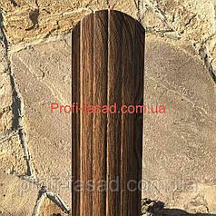 Штакетник Под Дерево 105мм 115мм евроштакетник штакет Темное Дерево, 105