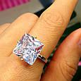 """Серебряное кольцо с огромным камнем """"Кристалл"""", фото 2"""