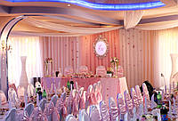 Свадебное оформление стола молодоженов