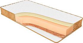 Ортопедический беспружинный матрас Релакс  мемори, кокос ( двухсторонний кокос + мемори) Цена за нестандарт м2