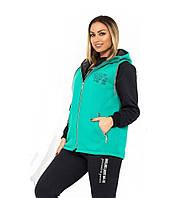 Женский стильный спортивный костюм тройка осень зима размеры от XL