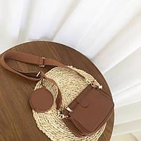 Модная женская сумка в сумке 3в1 - Коричневая, фото 2