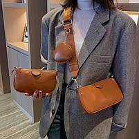 Модная женская сумка в сумке 3в1 - Коричневая, фото 4