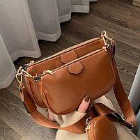 Модная женская сумка в сумке 3в1 - Коричневая, фото 5