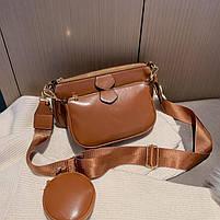 Модная женская сумка в сумке 3в1 - Коричневая, фото 6