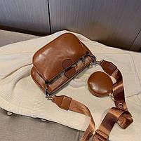 Модная женская сумка в сумке 3в1 - Коричневая, фото 7